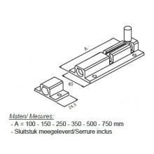 Alu grendel 150 mm - F1
