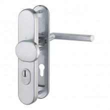 Inbraakwerend deurbeslag in inox - knop/kruk - Stockholm Hoppe