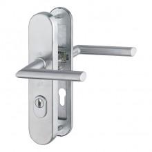 Inbraakwerend deurbeslag RVS - PC72 - kruk/kruk - Stockholm Hoppe