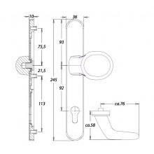 Inbraakwerend wisselgarnituur F1 PC92 zonder kerntrekbeveiliging - Kronos Dieckmann