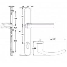 Inbraakwerend krukgarnituur F1 PC92 met kerntrekbeveiliging - Kronos Dieckmann