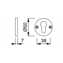 Cilinderrozet rond 11PS F1 - Hoppe