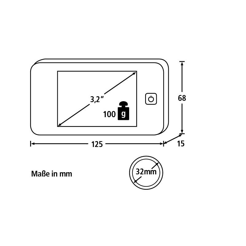 digitale deurspion door eguard dg 8100 burg w u00e4chter
