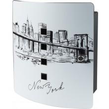 Sleutelkast hoogwaardig bedrukt - Skyline New York 6204/10 Ni Burg Wächter (10 haken)