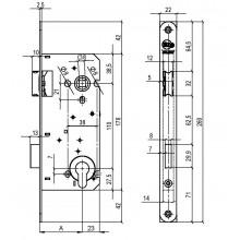 Litto A2653 projectslot voor houten deur met rechthoekige voorplot