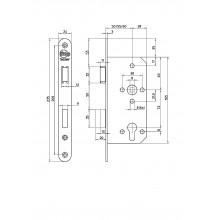 Litto A26E1 projectslot voor houten deur