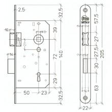 Litto A1356 insteek klavierslot