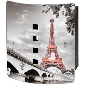 Sleutelkast hoogwaardig bedrukt met de Eiffeltoren 6204/10 Ni Burg Wächter (10 haken)